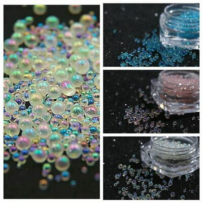 Mini Bubble Beads 3D Nail Art Decoration Manicure 0.5-3mm Mixed Colorful DIY