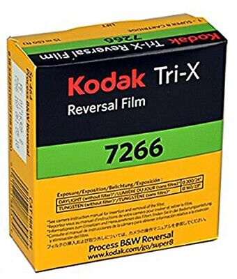 *MINT* Kodak Tri-X Reversal B&W film 7266 Super 8mm