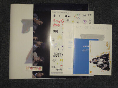 BTS Map Of The Soul 7 Version 3 Official Photobook Poster Notes Extras Only