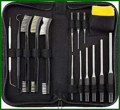 All In One Gun Cleaning Kit W Grip Roll Pin Punch Tool Set Brush Pick Anti Rust