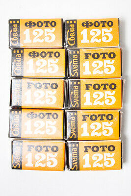 4 rolls 35m black and white film Svema Foto125. Soviet negative expired film