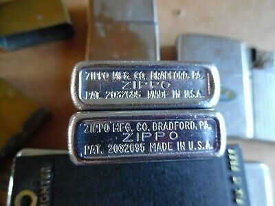 30 Zippo Lighter lot (2 Rare Pre-50's ? Pat 2032695) 2517191) 1950's to 3 2000's