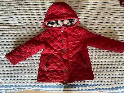 Child's Burberry Coat - Red - Age 3