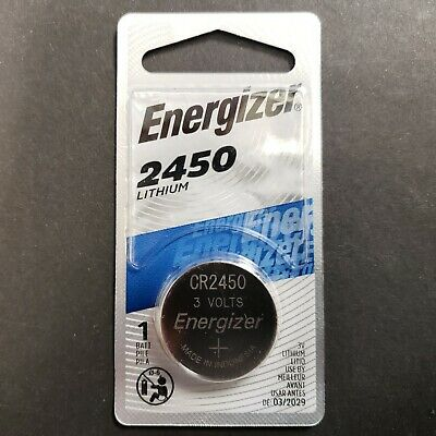 Single Energizer 2450 Watch Car Key 3V Button CR2450 Lithium Battery Cell NEW