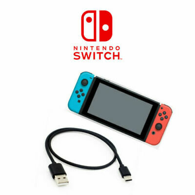 Nintendo Switch / Lite Console 3M USB Charger Type-C Charging Cable Power Lead
