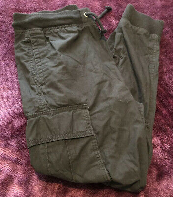 Boys Black H&M Cuffed Bottom Pants/ Trousers Aged 11-12 Years