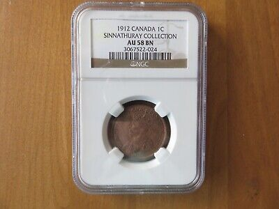 1912 Canada 1c One Cent Penny NGC AU58 BN SINNATHURAY COLLECTION