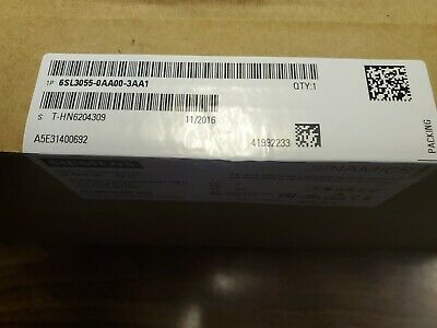 1PC, Brand New, Sealed Box, Siemens 6SL3055-0AA00-3AA1, SINAMICS TERMINAL MODULE