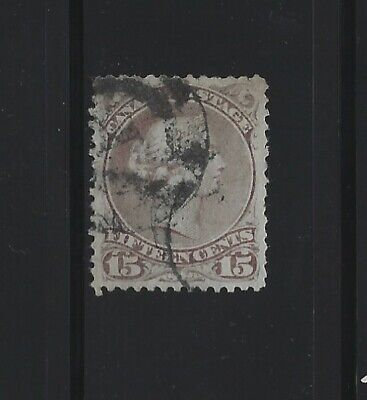 CANADA - #29b - 15c LARGE QUEEN VICTORIA VF USED STAMP