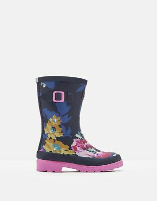 Joules Girls Printed Wellies - ANNIVERSARY FLORAL Size Childrens 9