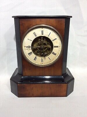 Antique Depose Tick Tac Timepiece Mantle Clock