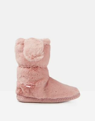 Joules Girls Padabout Luxe Slipper Socks - SOFT PINK Size XL