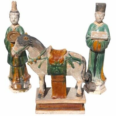Ming Dynasty Sancai Glazed Horse and Tomb Figures