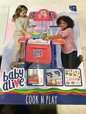 Baby Alive Pretend  Doll Kitchen Set with Cooking Accessories NEW OPENED BOX