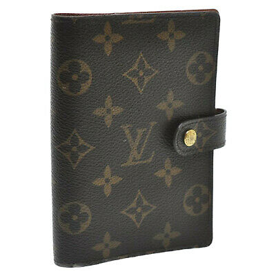 LOUIS VUITTON Monogram Agenda PM Day Planner Cover R20005 LV Auth 12501