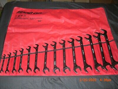 """Snap On Tools 14 Pc. SAE 4-Way / Double Angle Wrench Set (3/8"""" - 1-1/4"""") VS814A"""