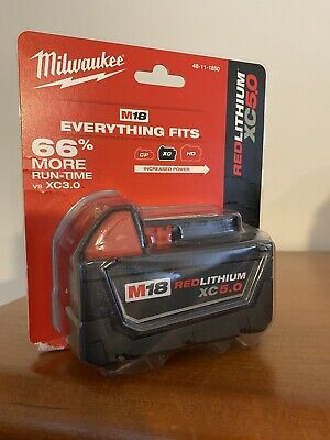 $129 Milwaukee 48-11-1850 M18 Redlithium Xc 5.0 Ah Battery Pack Lithium-Ion
