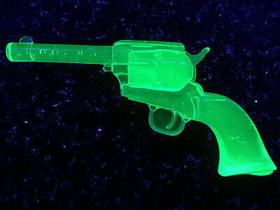 Green vaseline glass colt revolver gun uranium walker single action army python