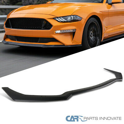 Fits 18-19 Ford Mustang GT Style Front Bumper Splitter Lip Black PP