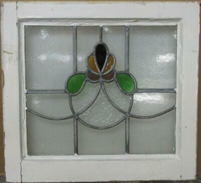 "OLD ENGLISH LEADED STAINED GLASS WINDOW Cute Abstract Design 18.75"" x 17.25"""