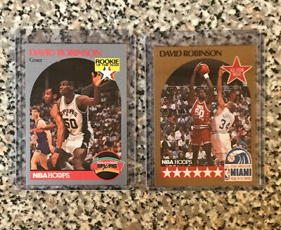 1990 NBA Hoops Cards DAVID ROBINSON  Rookie of the Year #270 & NBA All-Star #24