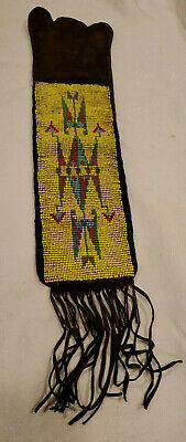 Old Antique Plains Native AMERICAN INDIAN BEADED TOBACCO Pipe Bag Sioux
