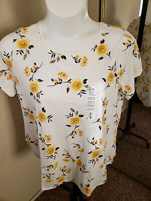 SONOMA Goods For Life NWT Size XXL Gold Flower Top