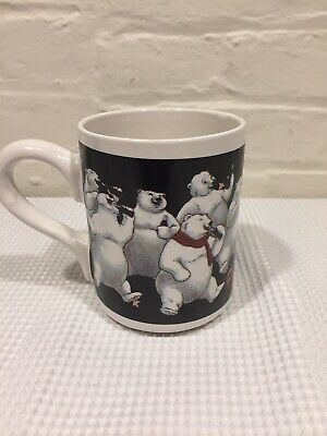 Coca cola Coffee Mug.polar Bears 1996 Gibson