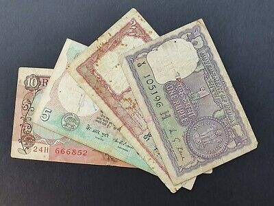 Group of 4 Indian Banknotes