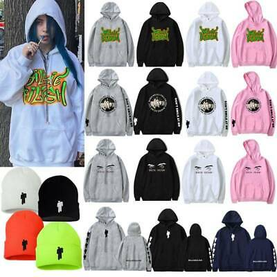 Unisex Billie Eilish Bad Guy Hoodie Hip Hop Jumper Rapper Sweatshirt Pullover