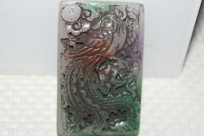 Chinese master hand-carved emerald mascot pendant