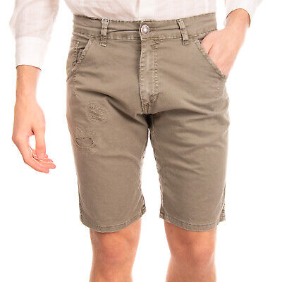 WHY NOT BRAND Shorts Size 30 Distressed Garment Dye Patched Inside Made in Italy
