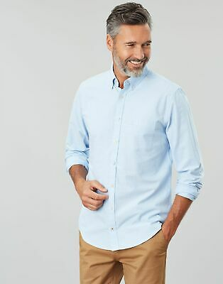 Joules Men The Laundered Oxford Classic Fit Shirt in CORNFLOWER