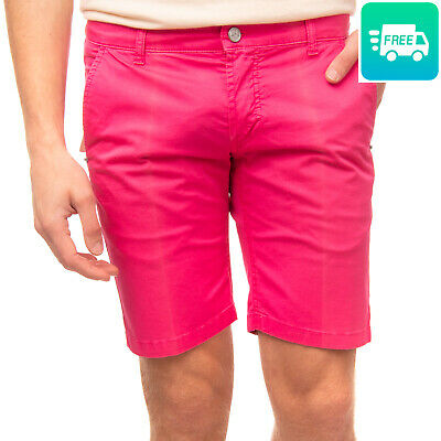 RRP €130 ENTRE AMIS Bermuda Shorts Size 31 Stretch Garment Dye Made in Italy