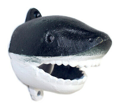 Sharks Head Bottle Opener Wall Mount Painted Cast Iron