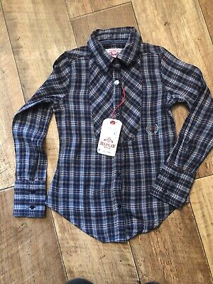 Bnwt Replay And Sons Girls Fitted Shirt Blouse With Detail Age 6 Years