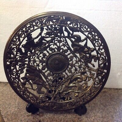 Coalbrookdale 19 Th Century Cast Engraved Plate/dish