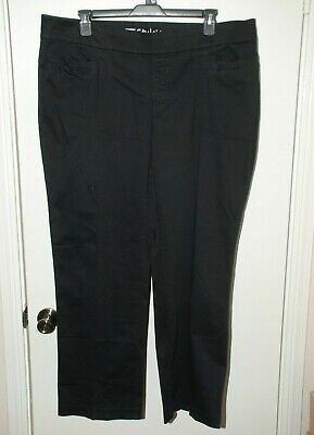 Lee Style Up Woman's Ladies Pants Size 22W Black Comfort Waist