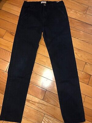 Boys ZARA Navy Blue Chinos Trousers Age 13 - 14 Years