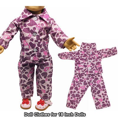 Doll Clothes Accessories Long Sleeve Tops+ Pants for 18 inch Dolls Clothes Suit
