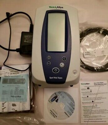 Welch Allyn Spot 42NTB-E1 Vital Signs NIBP Nellcor SpO2 SureTemp MAP