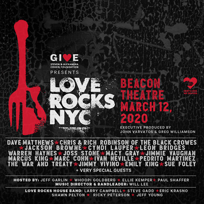 2 Tickets For Love Rocks Nyc Dave Matthews Beacon Theatre New York 3/12.