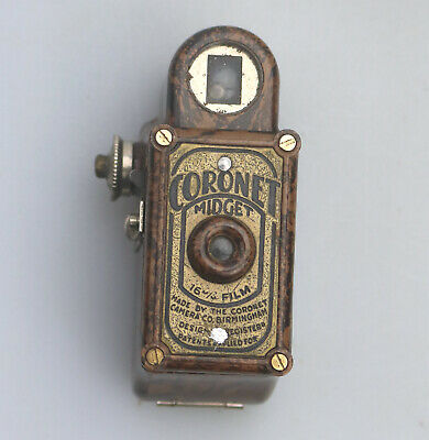 Antique Photography Scarce novelty miniature Coronet Midget Spy Camera C.1930