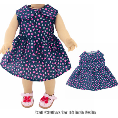 Doll Clothes Fashion Accessories Star Pattern Dress for 18 Inch Dolls Doll Dress