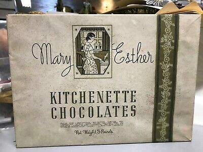 VTG Mary Esther Kitchenette Chocolates Advertising Box Candy1938 EJ Brach & Sons