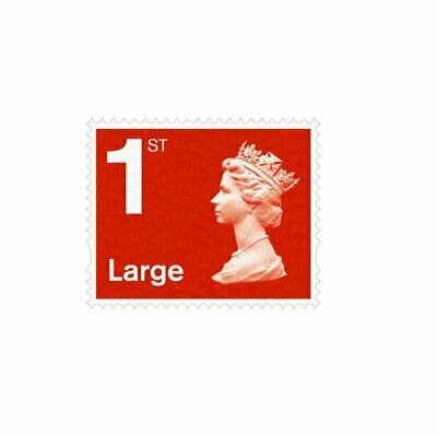 50 pcs Royal Mail First Class LARGE stamps