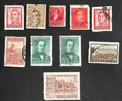 Assortment Of Old Used Argentina Stamps.