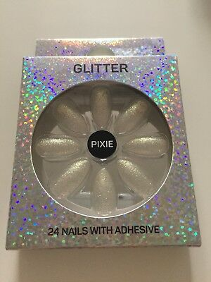 Pixie Glitter False Nails
