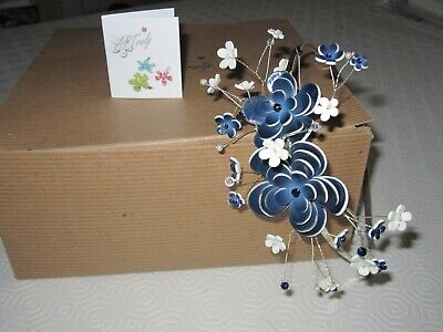 Alice Band Fascinator - Handmade by ARTruly in Cornwall - Worn Once - Navy