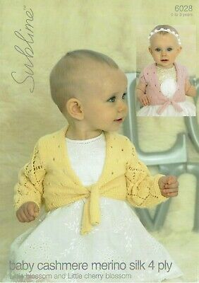 Sublime Baby/ Childs 4Ply  Knitting Pattern 6028